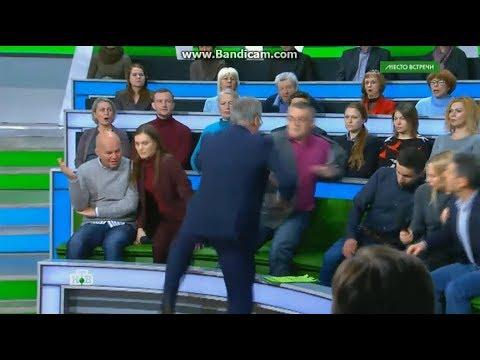 В эфире российского ТВ русские подрались с украинцами из-за немца