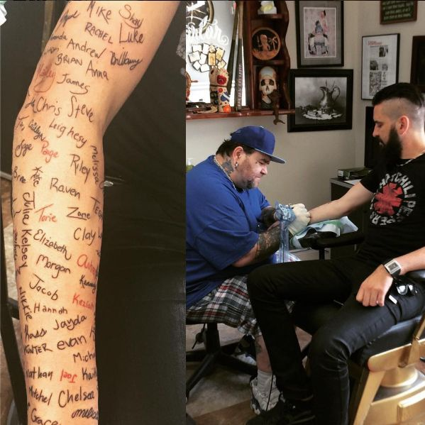 Татуировки Роба Неша