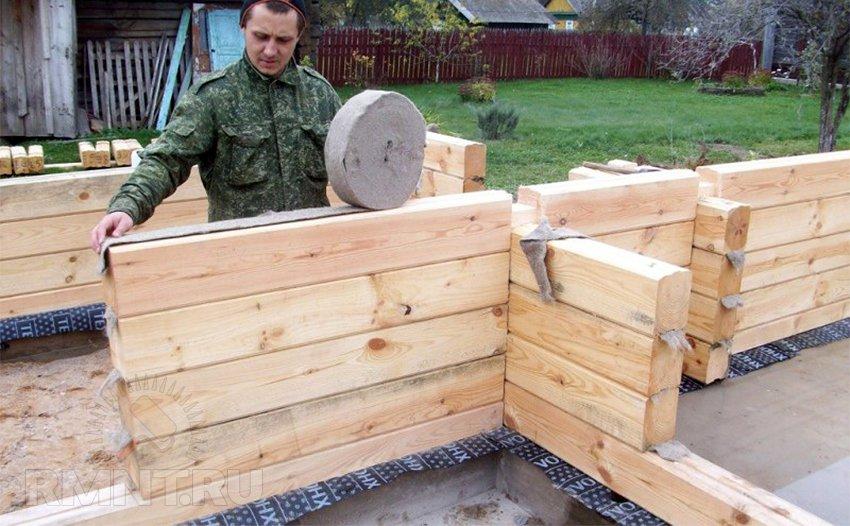 Как построить баню из профилированного бруса