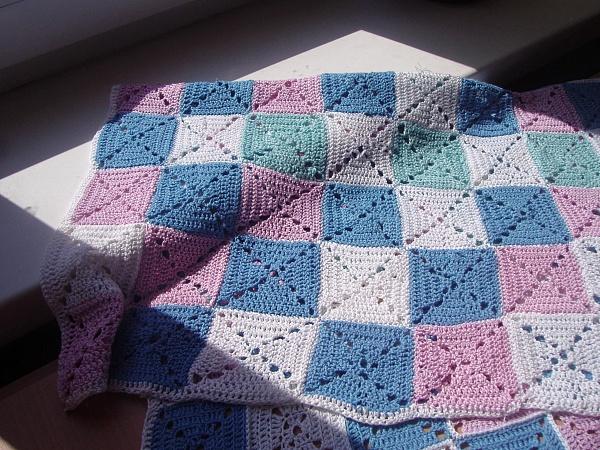 Вязание квадратиков крючком