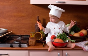 child-cook-kitchen-stove