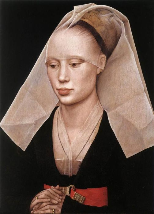 Портрет леди. Рогир ван дер Вейден, 1455 г. | Фото: pinterest.com.