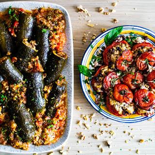 Начиненные томаты и кабачки по-израильски