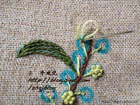 Объемная вышивка. Ромашки, одуванчики, хризантемы и мимоза (28) (460x345, 146Kb)