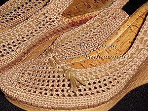 Реставрация обуви, вязаные босоножки | Ярмарка Мастеров - ручная работа, handmade