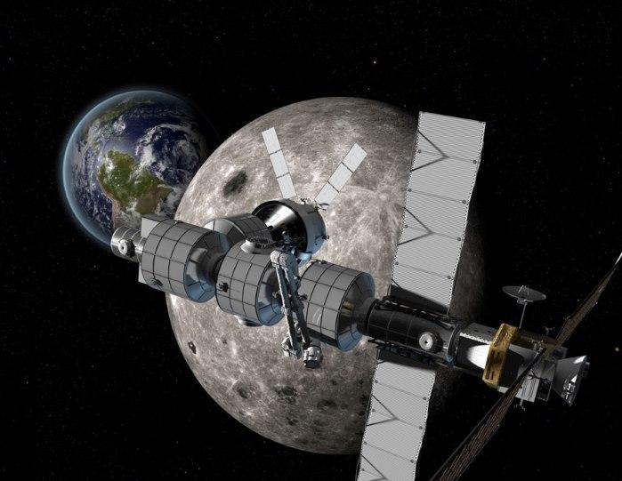 Роскосмос: международную космическую станцию планируется построить на орбите Луны