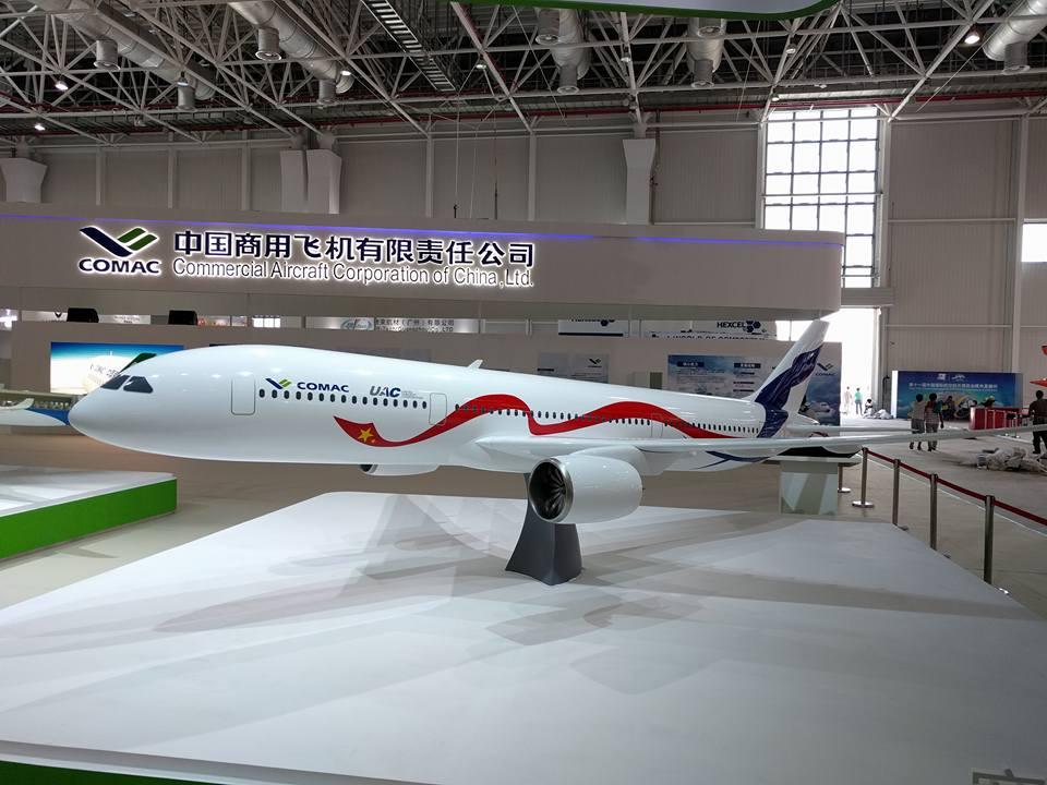 Модель перспективного совместного российско-китайского самолета ШФДМС