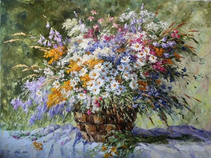 Вглядитесь в эти нежные цветы... Натюрморты Ирины Алекс
