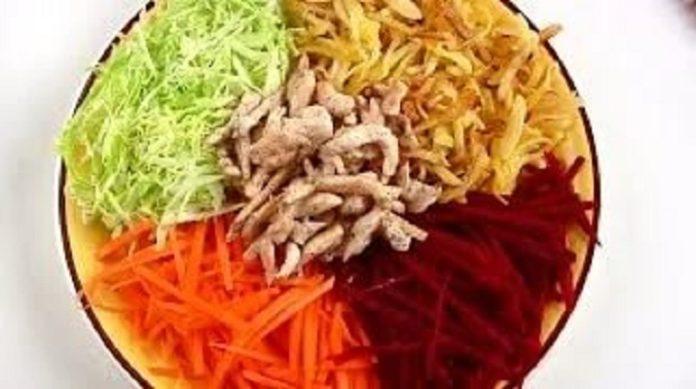 Обалденный французский салат с жареной картошкой