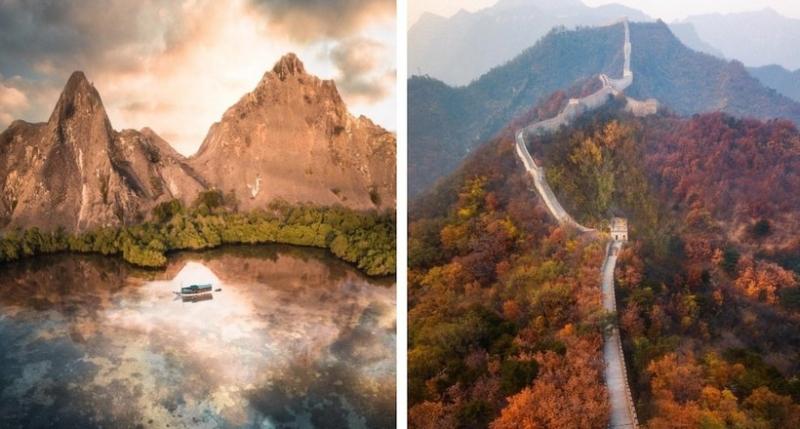 Чудесные фото Азии с высоты …