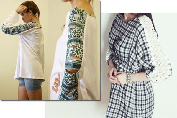 Как увеличить платье с помощью кружева