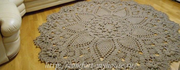 Схемы вязания крючком ковров из шнура крючком схемы