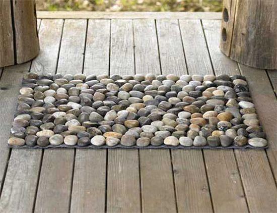 коврик из камешков своими руками