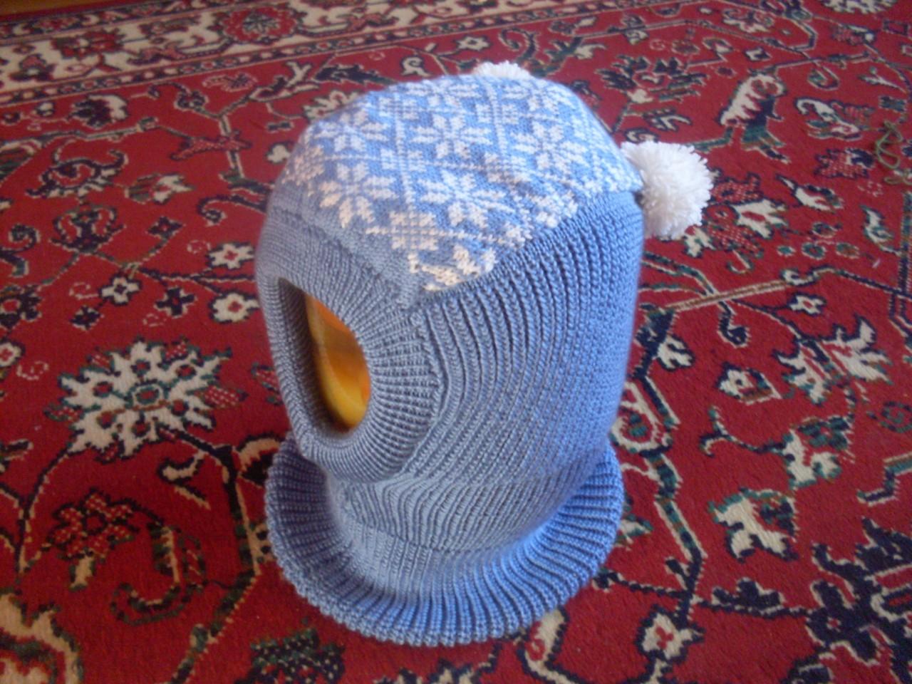 Шапочка шлем ребенка вязание