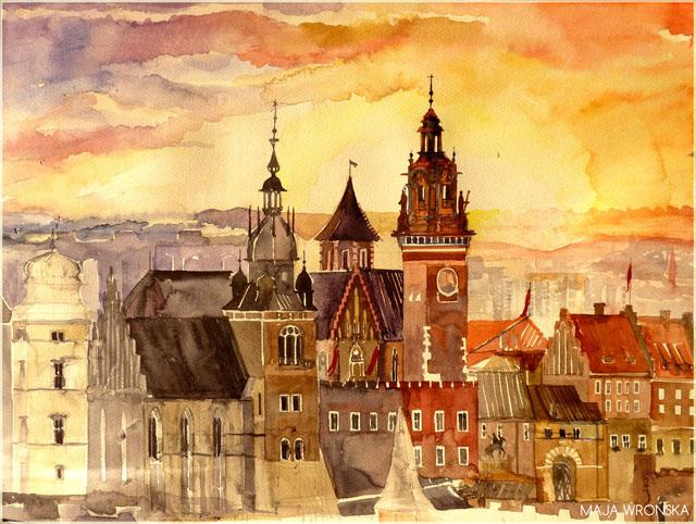 Картины акварелью: архитектурные памятники Европы от Maja Wr…