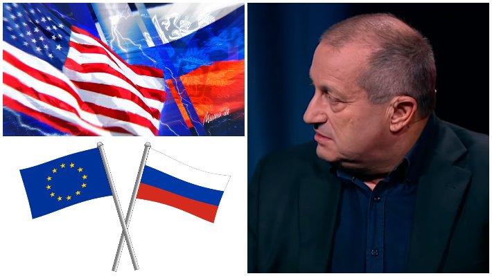 """Кедми объяснил журналисту из Чехии причины ненависти Запада к РФ / Коллаж: ФБА """"Экономика сегодня"""""""
