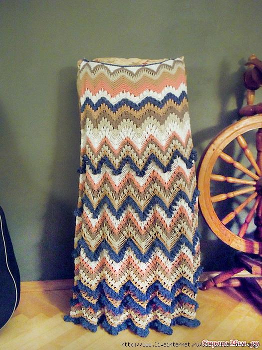 ПЕТЕЛЬКА К ПЕТЕЛЬКЕ. Длинная юбка-зигзаг в стиле Миссони