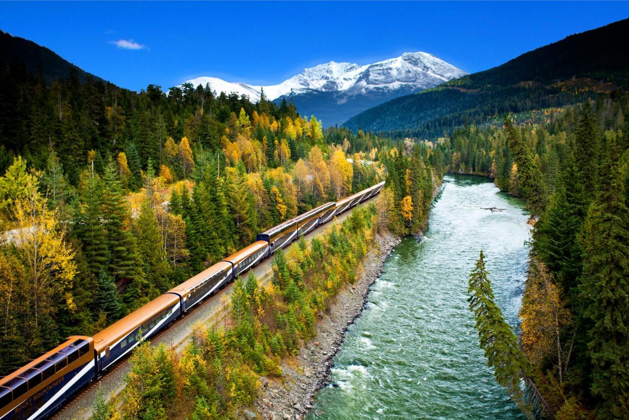 Северная Америка: Rocky Mountaineer поезд, путешествия