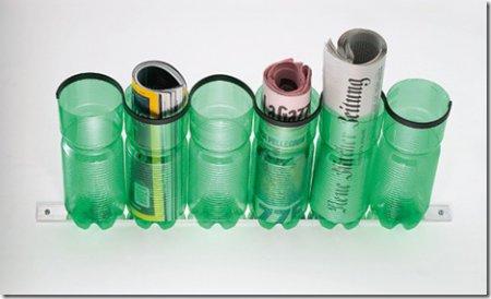 Газетница из пластиковой бутылки