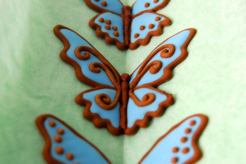 Бабочки из айсинга своими руками