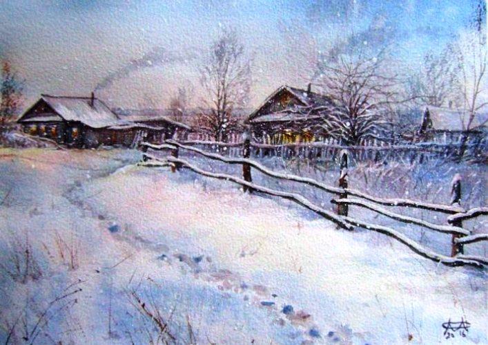 Сергей Морозов зимние пейзажи
