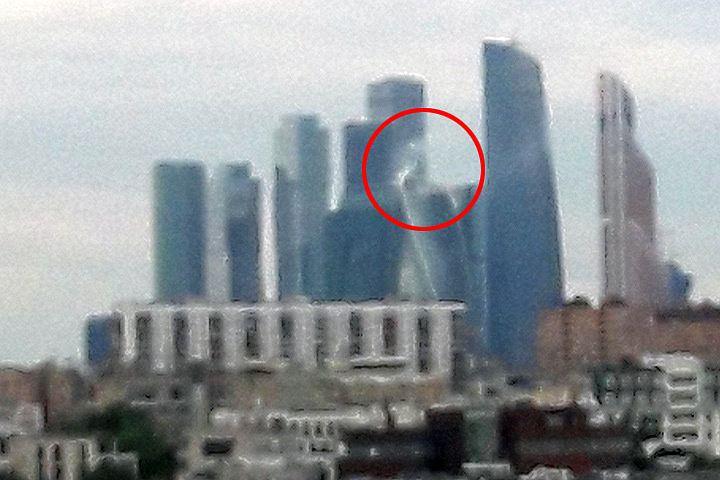 Горожан напугал пожар в небоскребе Москва-Cити