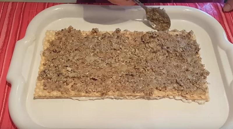 рецепт закусочного торта с рыбой