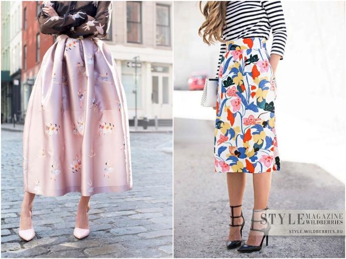 Особый случай: юбка с принтом