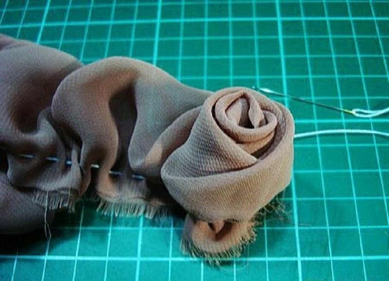 Новые цветы из ткани своими руками 85
