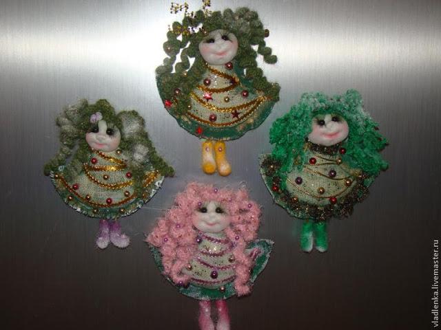 Куколки - Ёлочки. Магниты в …