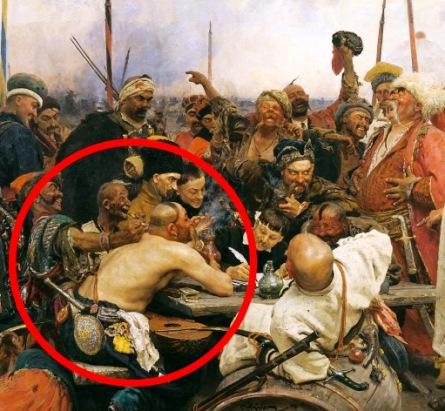 Вы 100 раз видели эту картину Ильи Репина. Но, знаете ли вы, почему этот казак без рубашки?