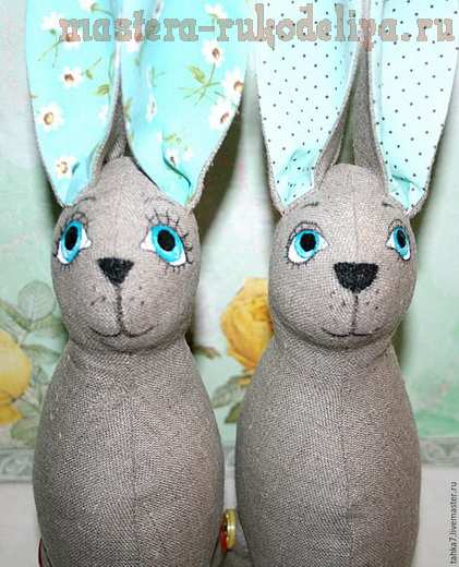 Мастер-класс по шитью игрушек: Мятные кролики