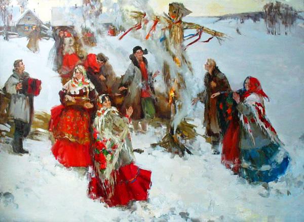 Предчувствие весны — радостные картины русских художников, посвященные Масленице