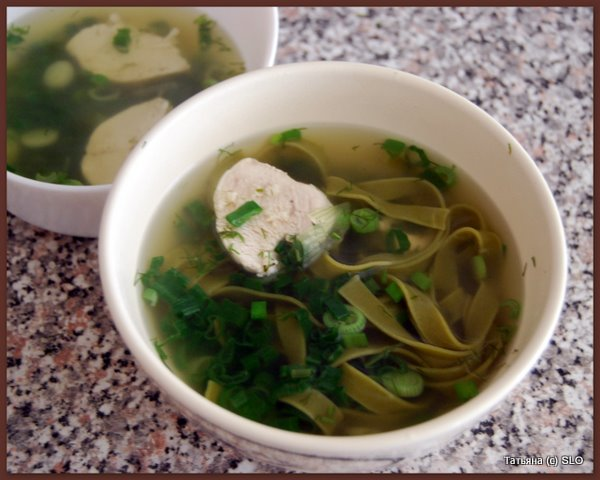 Очень диетический суп c tagliotelle. Фото-рецепт.