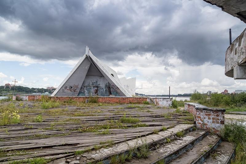 13. Летний театр на острове Юность СССР, архитектура, было стало, ностальгия