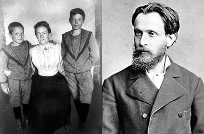 Слева – Клара с сыновьями. Справа – ее гражданский муж Осип Цеткин | Фото: foto-history.livejournal.com