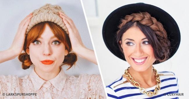 Для красоты в холода — 15 причесок, которые идеально смотрятся с шапками и шляпами
