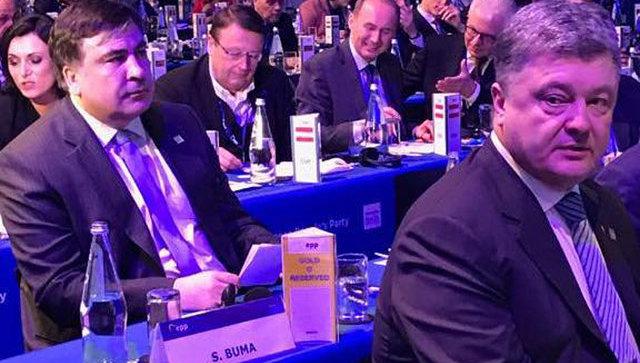 Саакашвили дважды оконфузился на конгрессе в Мальте