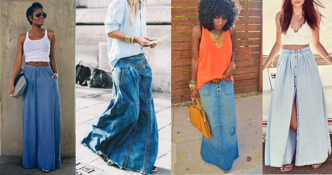 Мини, миди, макси: примеряем стильные юбки из денима