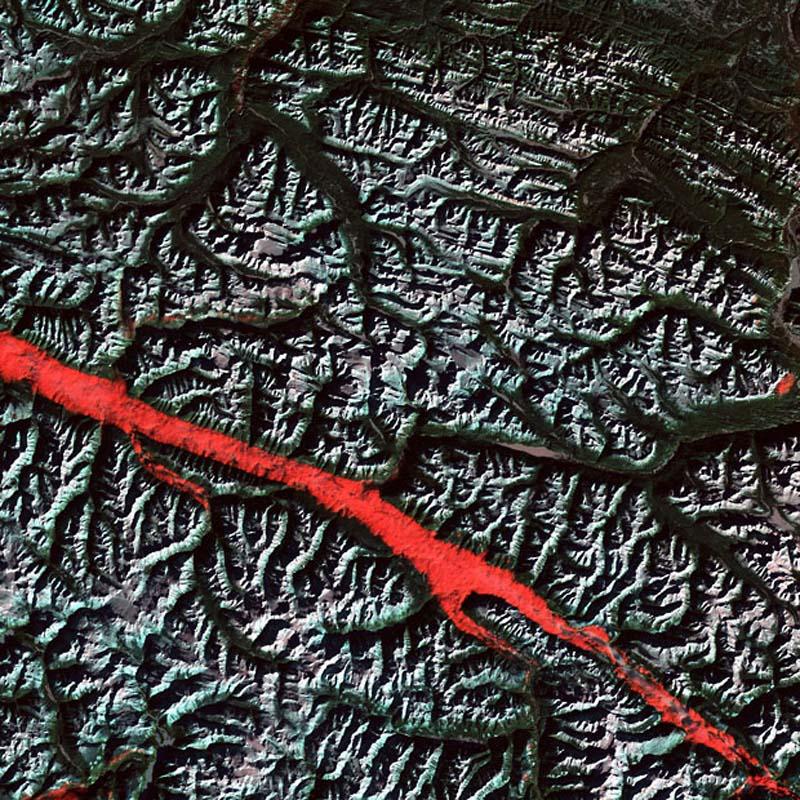 Landsatprogramme 11 Фото со спутника   Земля как произведение искусства