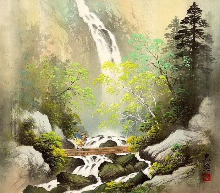 Умиротворяющие Восточные Рисунки Koukei Kojima