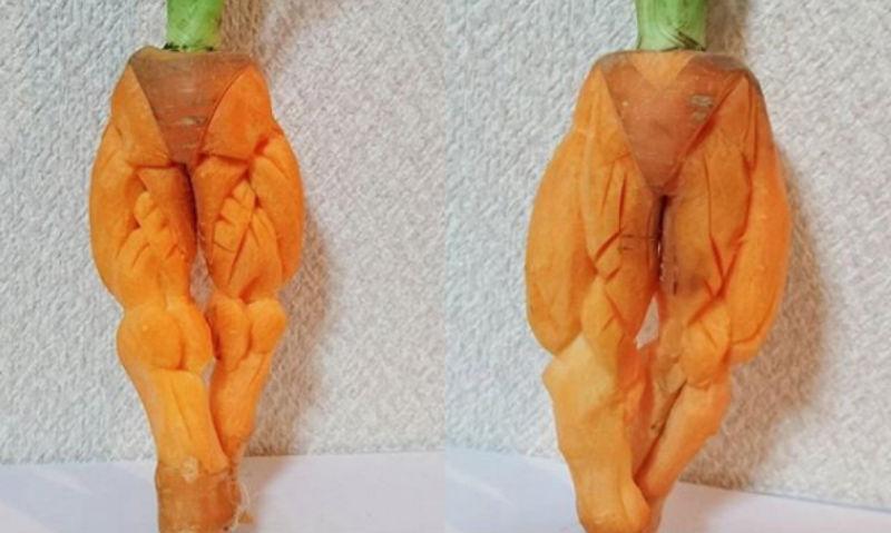 Instagram виртуозного японца, который вырезает головокружительные узоры на овощах и фруктах
