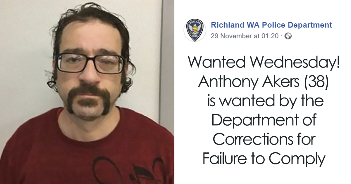 """Man Surprises Police By Responding To His Own Police """"Wanted"""" Post On Facebook"""