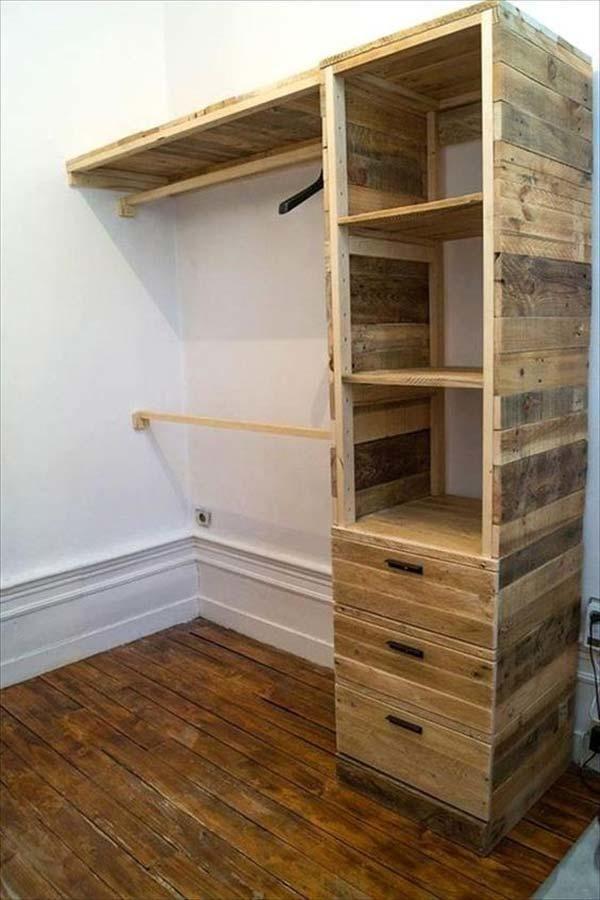 Недорогой шкаф для одежды своими руками