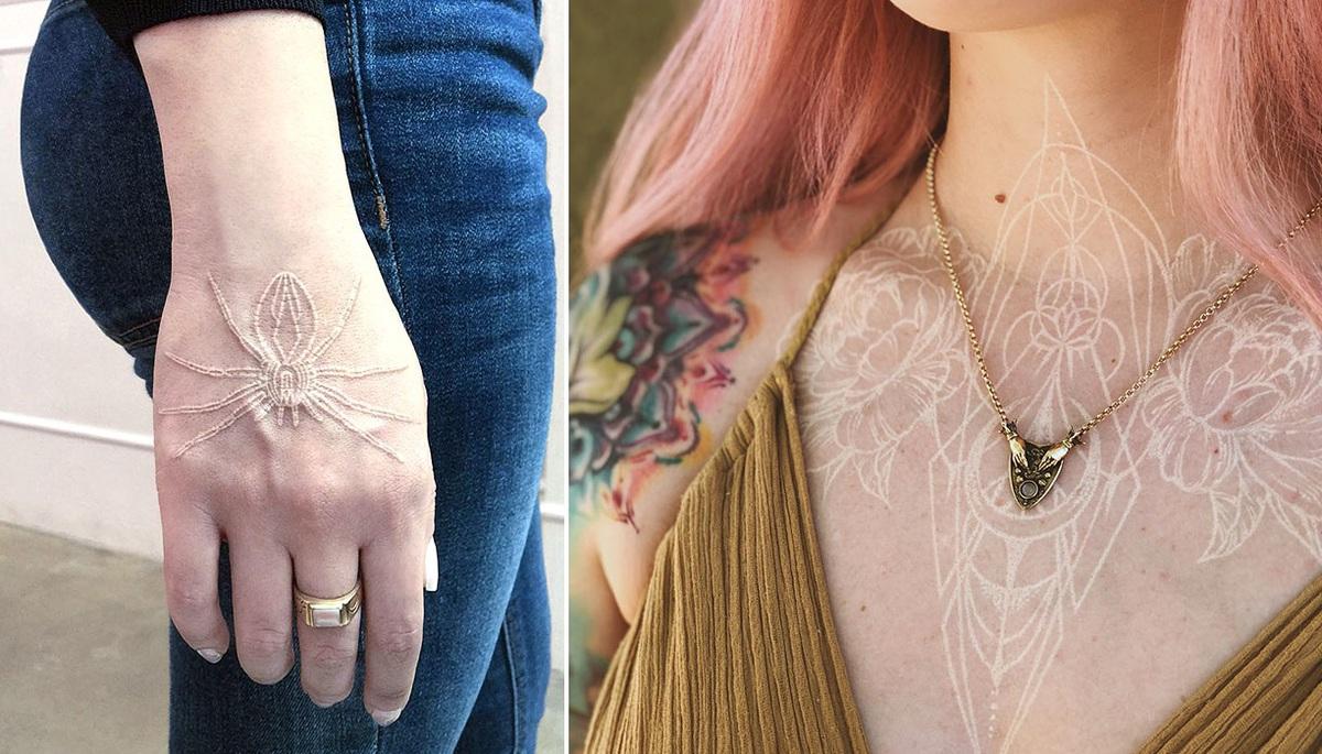 10+ белых татуировок, которые похожи на волшебные руны