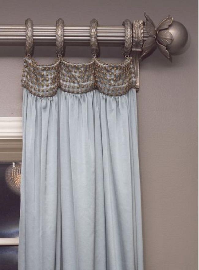 как закрепить шторы на карнизе