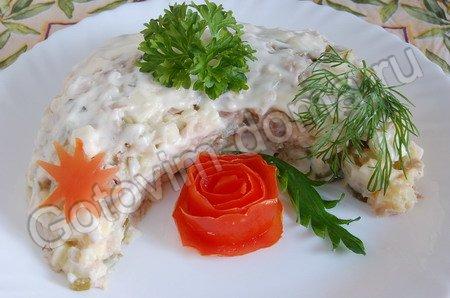 рецепт Салат Кукареку