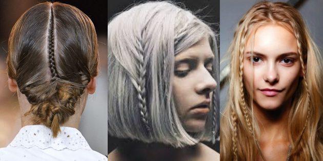 Модные женские причёски 2019: одиночные микрокосички