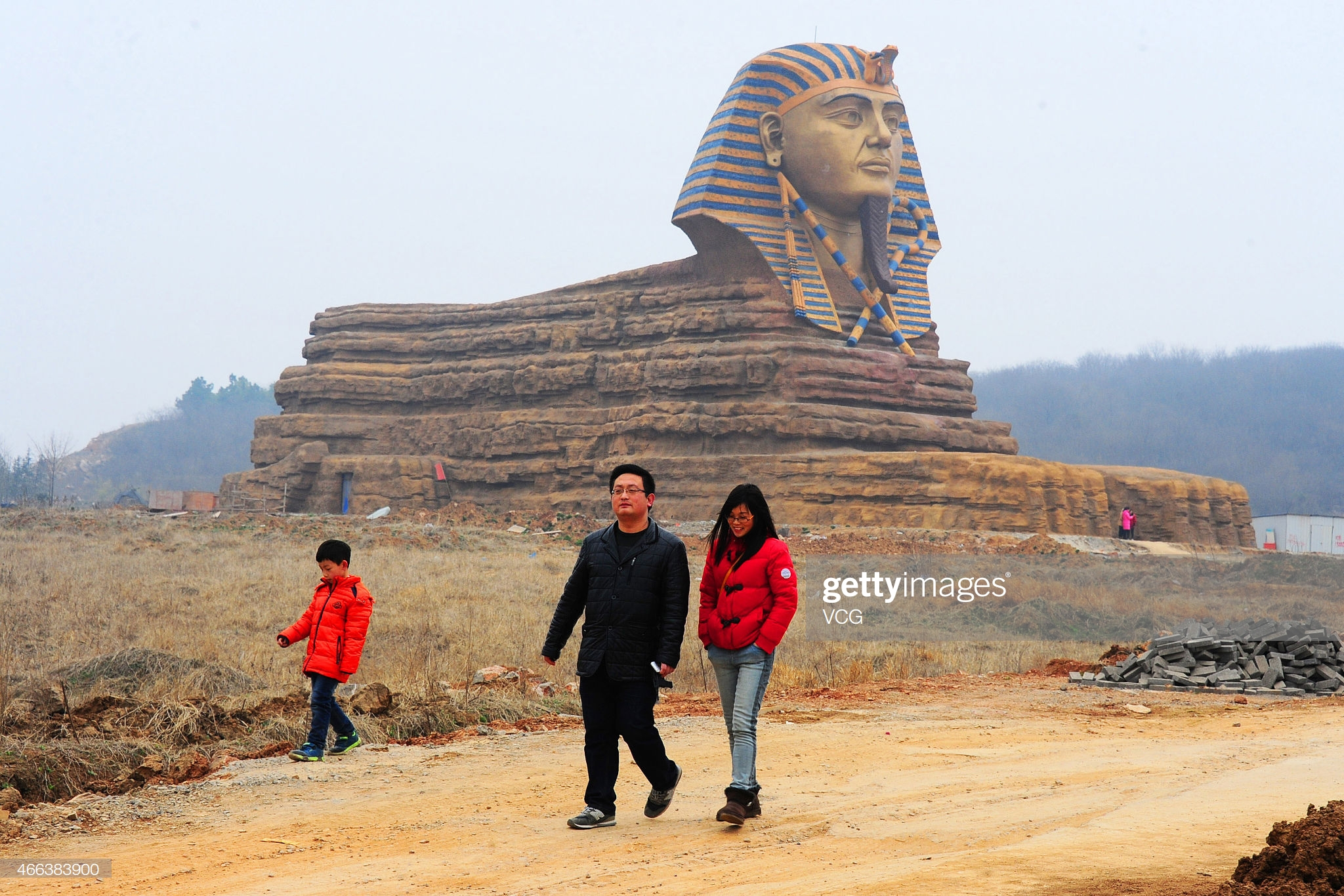 Replica Of The Great Sphinx Becomes Tourist Attraction In Anhui : News Photo
