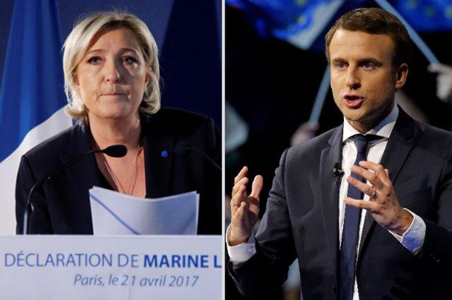 Опрос: в финал выборов во Франции выйдут Ле Пен и Макрон